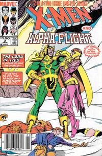 Cover Thumbnail for X-Men / Alpha Flight (Marvel, 1985 series) #2 [Newsstand]