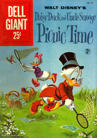 Cover Thumbnail for Dell Giant (Dell, 1959 series) #33 - Walt Disney's Daisy Duck and Uncle Scrooge Picnic Time [UK Price Variant]