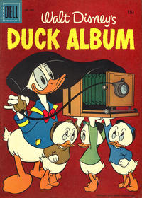 Cover Thumbnail for Four Color (Dell, 1942 series) #840 - Walt Disney's Duck Album [15¢]