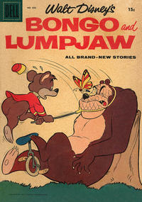 Cover for Four Color (Dell, 1942 series) #886 - Walt Disney's Bongo and Lumpjaw [15¢]