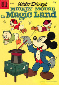 Cover Thumbnail for Four Color (Dell, 1942 series) #819 - Walt Disney's Mickey Mouse in Magic Land [15¢]