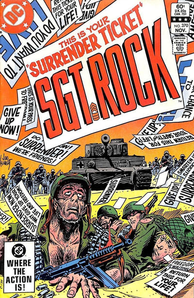 Cover for Sgt. Rock (DC, 1977 series) #370 [Canadian]