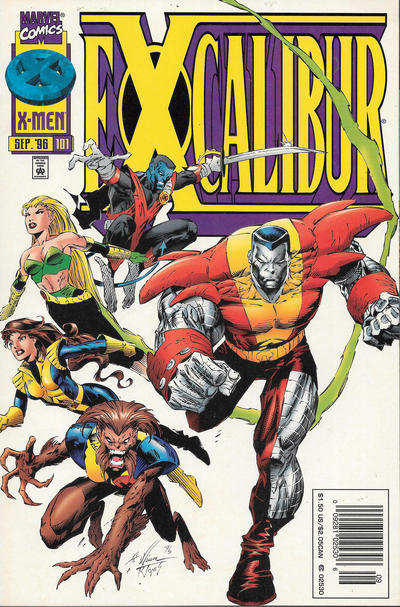 Cover for Excalibur (Marvel, 1988 series) #101 [Direct Edition]