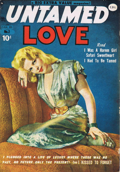 Cover for Untamed Love (Bell Features, 1950 series) #2