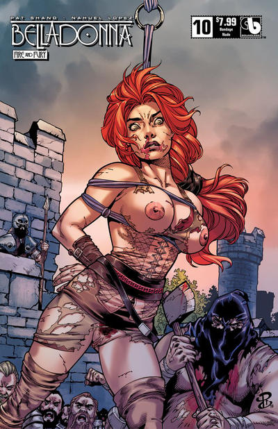 Cover for Belladonna: Fire and Fury (Avatar Press, 2017 series) #10 [Bondage Nude Cover]