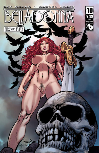 Cover for Belladonna: Fire and Fury (Avatar Press, 2017 series) #10 [Killer Body Cover]
