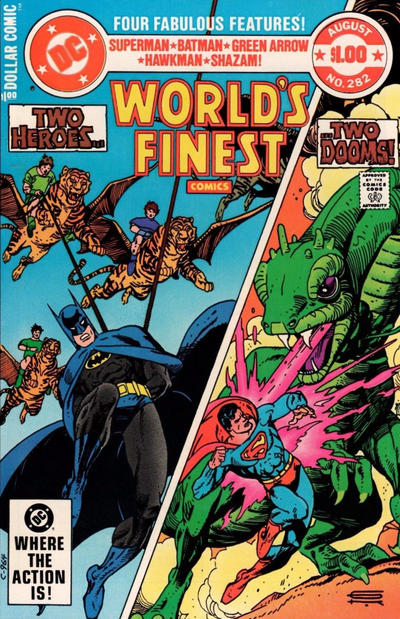 Cover for World's Finest Comics (DC, 1941 series) #282 [Newsstand]