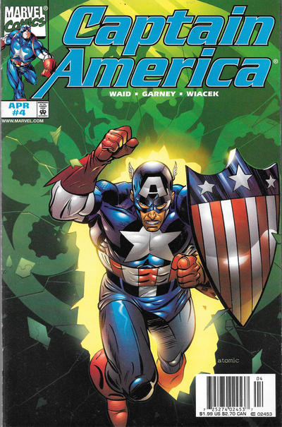 Cover for Captain America (Marvel, 1998 series) #4 [Direct Edition]