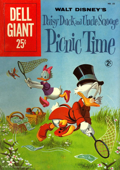 Cover for Dell Giant (Dell, 1959 series) #33 - Walt Disney's Daisy Duck and Uncle Scrooge Picnic Time