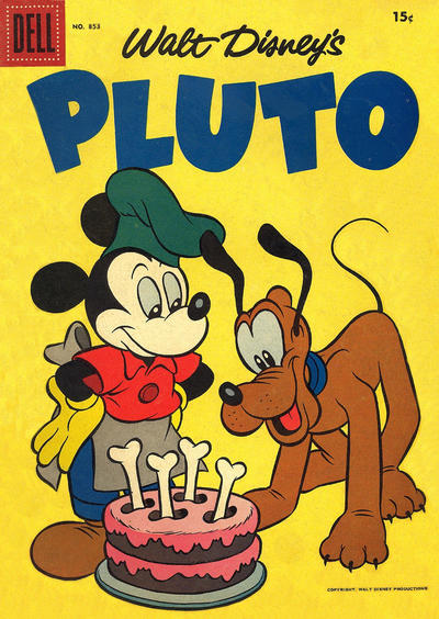 Cover for Four Color (Dell, 1942 series) #853 - Walt Disney's Pluto [15¢]