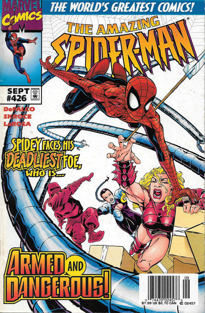 Cover for The Amazing Spider-Man (Marvel, 1963 series) #426 [Newsstand]
