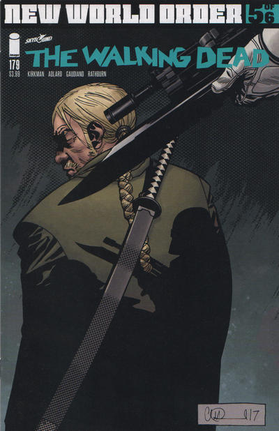 Cover for The Walking Dead (Image, 2003 series) #179 [15th Anniversary Bill Sienkiewicz]