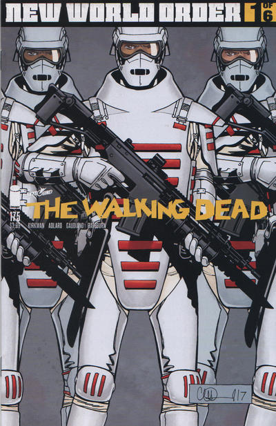 Cover for The Walking Dead (Image, 2003 series) #175 [15th Anniversary Bill Sienkiewicz]