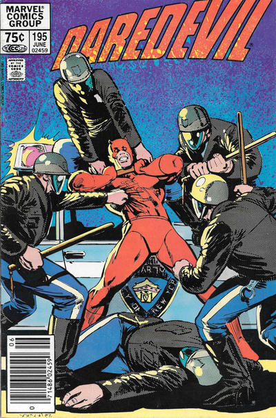 Cover for Daredevil (Marvel, 1964 series) #195 [Newsstand]
