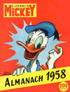 Cover for Almanach du Journal de Mickey (Hachette, 1956 series) #1958