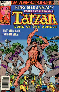 Cover Thumbnail for Tarzan Annual (Marvel, 1977 series) #3 [Newsstand]