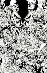 Cover Thumbnail for Uncanny X-Men (Marvel, 2019 series) #1 (620) [Joe Quesada 'Hidden Gem' Black and White]