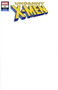 Cover Thumbnail for Uncanny X-Men (Marvel, 2019 series) #1 (620) [Blank Cover]