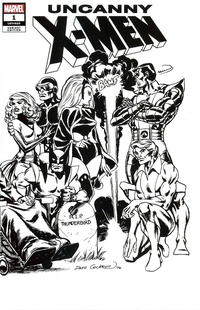 Cover for Uncanny X-Men (Marvel, 2019 series) #1 (620) [Joe Quesada 'Hidden Gem' Black and White]