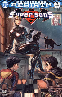 """Cover Thumbnail for Super Sons (DC, 2017 series) #1 [Unknown Comics Tyler Kirkham """"Catwoman"""" Cover]"""