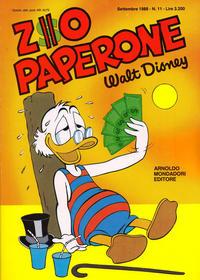 Cover Thumbnail for Zio Paperone (Arnoldo Mondadori Editore, 1987 series) #11