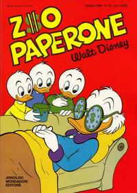 Cover Thumbnail for Zio Paperone (Arnoldo Mondadori Editore, 1987 series) #10