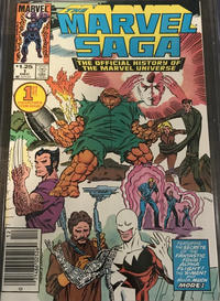 Cover Thumbnail for The Marvel Saga the Official History of the Marvel Universe (Marvel, 1985 series) #1 [Canadian]