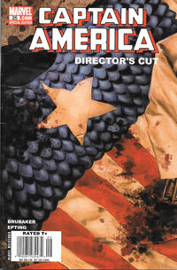 Cover Thumbnail for Captain America (Marvel, 2005 series) #25 Director's Cut [Newsstand]