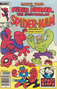 Cover Thumbnail for Marvel Tails Starring Peter Porker, the Spectacular Spider-Ham (Marvel, 1983 series) #1 [Newsstand]