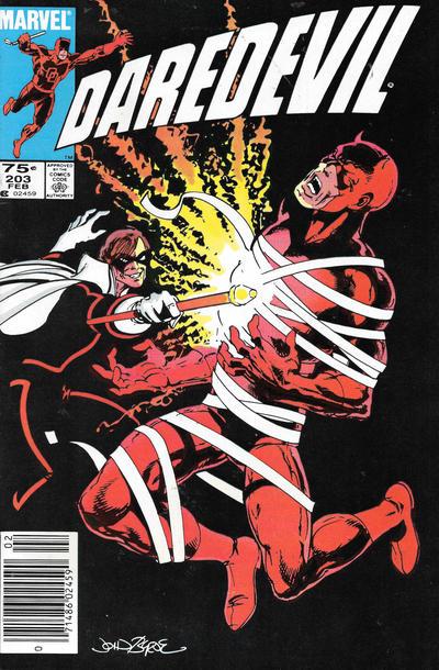 Cover for Daredevil (Marvel, 1964 series) #203 [Direct]
