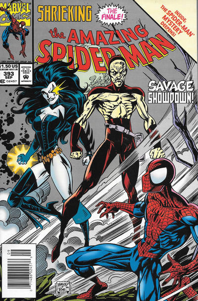 Cover for The Amazing Spider-Man (Marvel, 1963 series) #393 [Newsstand]