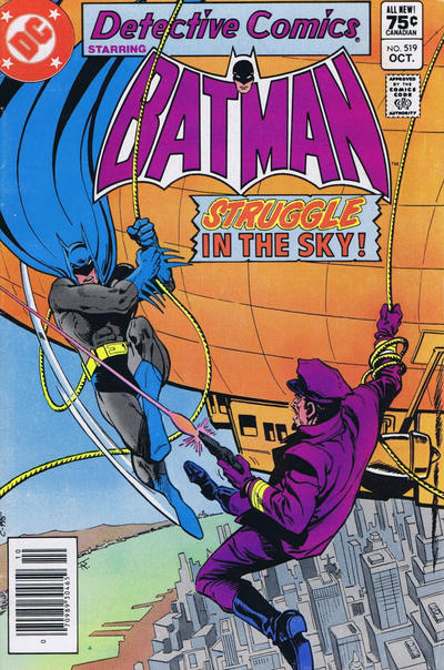 Cover for Detective Comics (DC, 1937 series) #519 [Newsstand]