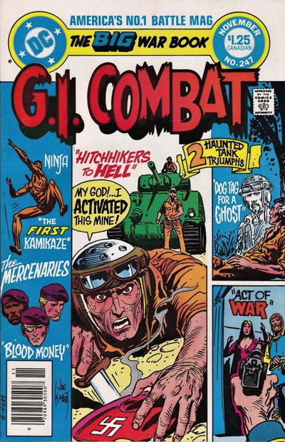 Cover for G.I. Combat (DC, 1957 series) #247 [Newsstand]