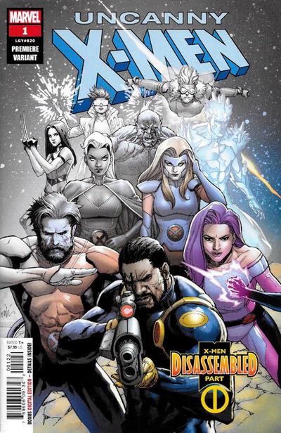 Cover for Uncanny X-Men (Marvel, 2019 series) #1 (620) [Blank Cover]