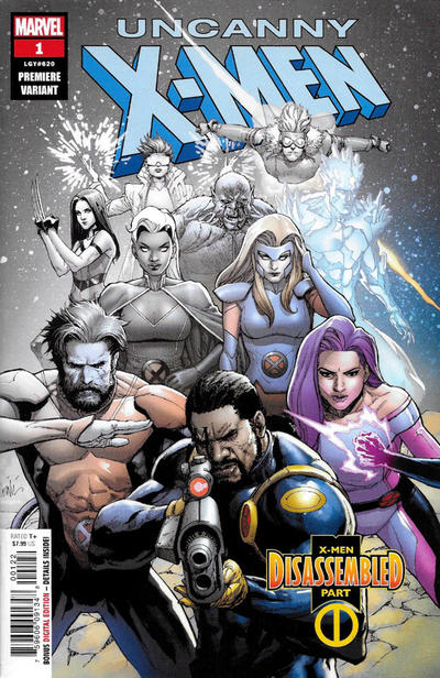 Cover for Uncanny X-Men (Marvel, 2019 series) #1 (620) [J. Scott Campbell Exclusive - Cover B]