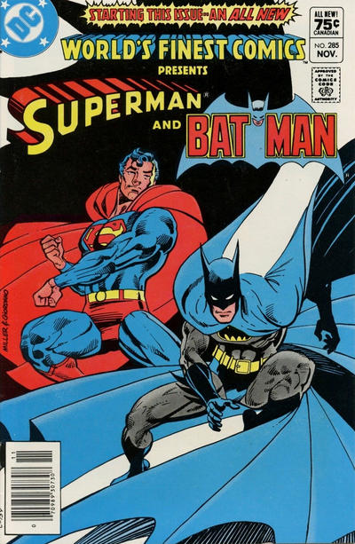 Cover for World's Finest Comics (DC, 1941 series) #285 [Canadian]