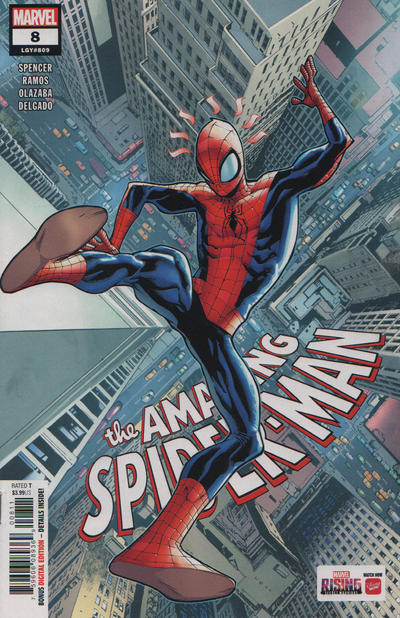 Cover for Amazing Spider-Man (Marvel, 2018 series) #8 (809) [Variant Edition - Marvel Battle Lines - Yoon Lee Cover]
