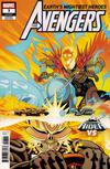 Cover for Avengers (Marvel, 2018 series) #7 (697) [Tradd Moore 'Cosmic Ghost Rider VS']
