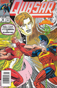 Cover Thumbnail for Quasar (Marvel, 1989 series) #54 [Newsstand]