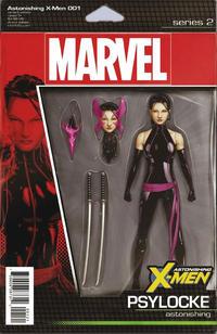 Cover Thumbnail for Astonishing X-Men (Marvel, 2017 series) #1 [John Tyler Christopher Action Figure (Psylocke)]