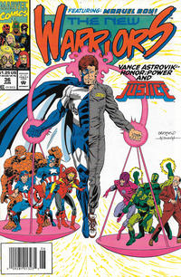 Cover Thumbnail for The New Warriors (Marvel, 1990 series) #36 [Newsstand]