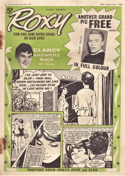 Cover for Roxy (Amalgamated Press, 1958 series) #30 September 1961 [186]