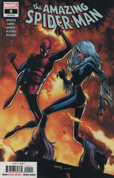 Cover for Amazing Spider-Man (Marvel, 2018 series) #9 (810) [Variant Edition - Black Cat - Mike Weiringo Virgin Cover]