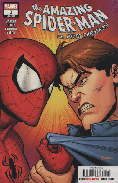 Cover for Amazing Spider-Man (Marvel, 2018 series) #3 (804) [Variant Edition - Unknown Comics Exclusive - Tyler Kirkham Virgin Cover]