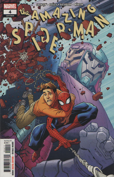 Cover for Amazing Spider-Man (Marvel, 2018 series) #4 (805) [Variant Edition - Return of the Fantastic Four - Chris Sprouse Cover]