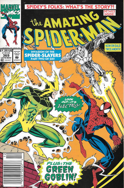 Cover for The Amazing Spider-Man (Marvel, 1963 series) #369 [Newsstand]