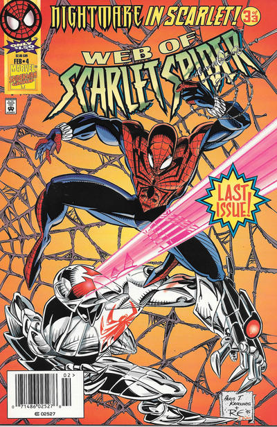 Cover for Web of Scarlet Spider (Marvel, 1995 series) #4 [Newsstand]