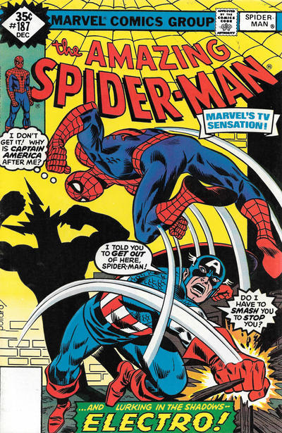 Cover for The Amazing Spider-Man (Marvel, 1963 series) #187 [Whitman]
