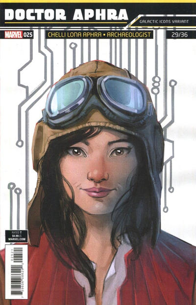 Cover for Doctor Aphra (Marvel, 2017 series) #25 [Rod Reis 'Galactic Icon' (Chelli Lona Aphra)]