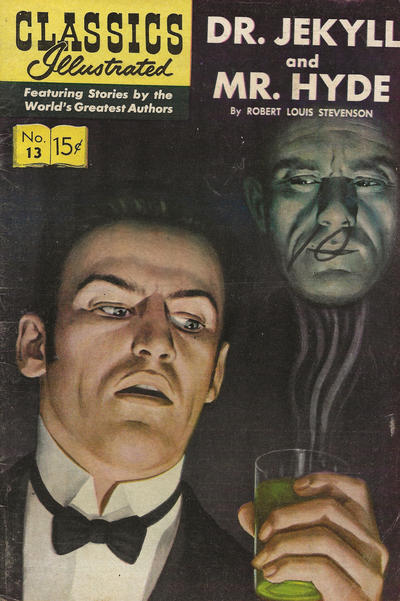 Cover for Classics Illustrated (Gilberton, 1947 series) #13 [HRN 112] - Dr. Jekyll and Mr. Hyde [New Art - Painted Cover]